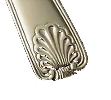 "Bon Chef S2000S - Shell Teaspoon, 6.30"" , 18/8 silverplated (Case of 12)"