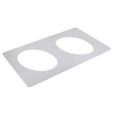 Bon Chef 52083 - Tile Inset, 12-3/4 X 20-13/16 in. with 2 cutouts for #5203, stainless steel