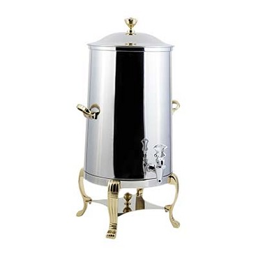 Bon Chef 48103-1 - Coffee Urn, 3-1/2 gallon, non-insulated, brass trim, Lion