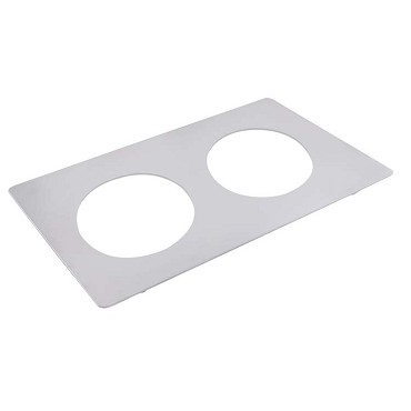 Bon Chef 52008262300 - Tile Inset, plain, 12-3/4 X 20-13/16 in., for (2) #62300NC