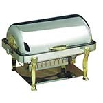 Bon Chef 18040 - Elite Chafer, 2 gallon, rectangular, stainless steel w/Lion legs