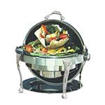 Bon Chef 17000CH - Elite Chafer, 2 gallon, round, stainless steel w/chrome Renaissa