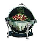 Bon Chef 18000CH - Elite Chafer, 2 gallon, round, stainless steel w/chrome Lion leg