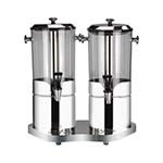 Bon Chef 40506 - Juice Dispenser, double, (2) 2 gallon each cylinder, 19-1/4