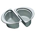 Bon Chef 5202 - Food Pan, 1/2 oval, 1 qt. 24 oz., 6.63