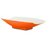 Bon Chef 53701-2TONEORANGE - Serving Bowl, 8 oz., 8 x 4-3/4 x 2 inch, curved, rect
