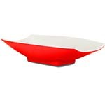 Bon Chef 53701-2TONERED - Serving Bowl, 8 oz., 8 x 4-3/4 x 2 inch, curved, rectang