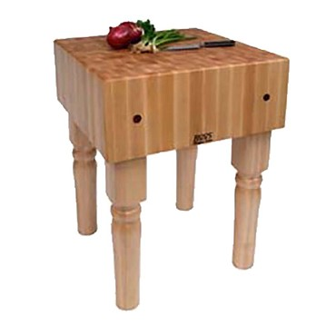 "John Boos AB02 - Butcher Block, 10"" maple top, 18 x 24 x 34 inch"