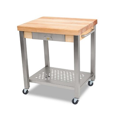 "John Boos CUCT34 - Cucina Technica Cart, 24 x 30 x 35 inch, 2-1/4"" maple top"