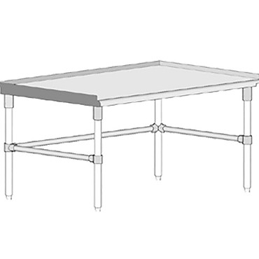"John Boos GS6-3648GBK - Equipment Stand, open base, 48""W x 36""D x 24""H"