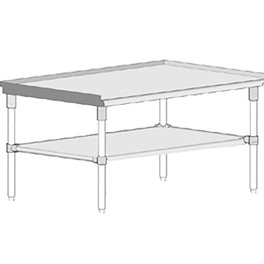 "John Boos GS6-3615GSK - Equipment Stand, open base, 15""W x 36""D x 24""H"