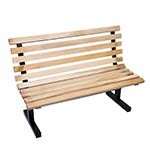 John Boos CPB48-M - Indoor Bench, with back, 48 inch, 2-1/4 x 1-1/4