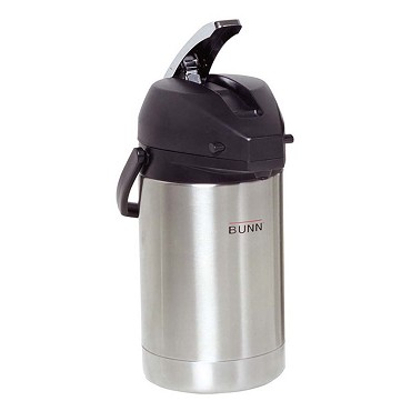 Bunn 32125.0100 - 2.5 liter Coffee Airpot (6 Pack). Lever-action
