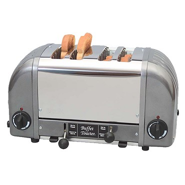 Cadco CBF-4M - Buffet Toaster, 4-Slot Stainless Hotel Model