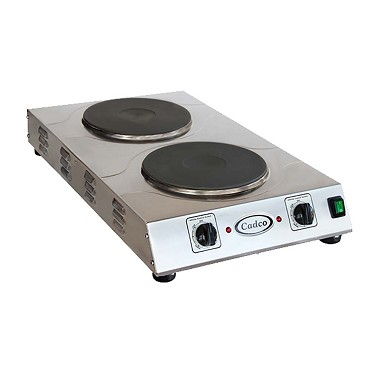 "Cadco CDR-3K - Portable Hot Plate, electric, (2) 9"" solid cast iron burners"