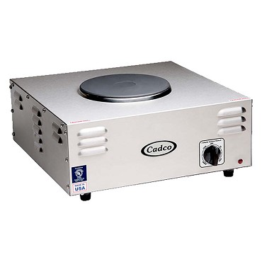 Cadco CSR-1CH - 7-1/2 in. Countertop Hotplate, Electric