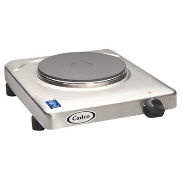 "Cadco KR-S2 - Portable Hot Plate, electric, 11-1/2"" W, (1) 7-1/8"" solid cast iron burner, 120v"