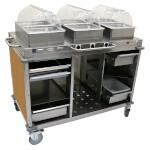 Cadco CBC-HHH-L1-4 - Mobile Hot Buffet Cart, 55-1/2