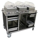 Cadco CBC-HHH-L3-4 - Mobile Hot Buffet Cart, 55-1/2