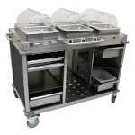 Cadco CBC-HHH-L3 - Steam Table Serving Counter, Mission Smoke