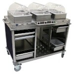 Cadco CBC-HHH-L4-4 - Mobile Hot Buffet Cart, 55-1/2