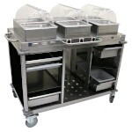 Cadco CBC-HHH-L6-4 - Mobile Hot Buffet Cart, 55-1/2
