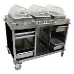Cadco CBC-HHH-L6 - Mobile Hot Buffet Cart, 55-1/2