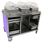 Cadco CBC-HHH-L7-4 - Mobile Hot Buffet Cart, 55-1/2