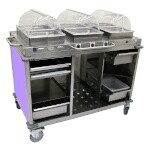 Cadco CBC-HHH-L7 - Mobile Hot Buffet Cart, 55-1/2