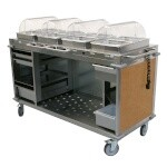 Cadco CBC-HHHH-L1 - Mobile Hot Buffet Cart, 70-1/4
