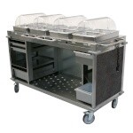 Cadco CBC-HHHH-L3 - Mobile Hot Buffet Cart, 70-1/4