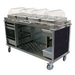 Cadco CBC-HHHH-L4 - Mobile Hot Buffet Cart, 70-1/4