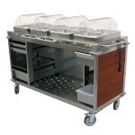 Cadco CBC-HHHH-L5 - Mobile Hot Buffet Cart, 70-1/4