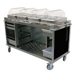 Cadco CBC-HHHH-L6 - Mobile Hot Buffet Cart, 70-1/4