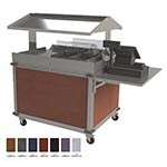 Cadco CBC-GG-2-L7 - Merchandising Cart, (2) hotfood wells, (4) half-size steam pans, Eggplant