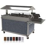 Cadco CBC-GG-4-L7 - Merchandising Cart, (4) hotfood wells, (8) half-size steam pans, Eggplant