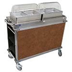 Cadco CBC-HH-L1-4 - MobileServ Junior Mobile Hot Buffet Cart, (2) double buffet servers, (4) half size steam pans (4