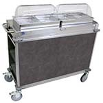 Cadco CBC-HH-L3 - MobileServ Junior Mobile Hot Buffet Cart, (2) double buffet servers, (4) half size steam pans (2-1/2