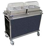 Cadco CBC-HH-L4-4 - MobileServ Junior Mobile Hot Buffet Cart, (2) double buffet servers, (4) half size steam pans (4