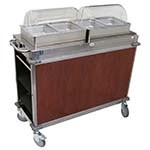 Cadco CBC-HH-L5-4 - MobileServ Junior Mobile Hot Buffet Cart, (2) double buffet servers, (4) half size steam pans (4
