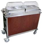 Cadco CBC-HH-L5 - MobileServ Junior Mobile Hot Buffet Cart, (2) double buffet servers, (4) half size steam pans (2-1/2