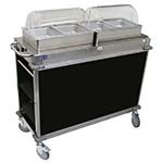 Cadco CBC-HH-L6-4 - MobileServ Junior Mobile Hot Buffet Cart, (2) double buffet servers, (4) half size steam pans (4