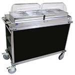 Cadco CBC-HH-L6 - MobileServ Junior Mobile Hot Buffet Cart, (2) double buffet servers, (4) half size steam pans (2-1/2