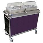 Cadco CBC-HH-L7-4 - MobileServ Junior Mobile Hot Buffet Cart, (2) double buffet servers, (4) half size steam pans (4