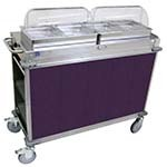 Cadco CBC-HH-L7 - MobileServ Junior Mobile Hot Buffet Cart, (2) double buffet servers, (4) half size steam pans (2-1/2