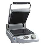 Cadco CPG-10F - Clamshell Panini Grill, Smooth Top & Bottom