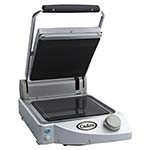 Cadco CPG-10 - Clamshell Panini Grill, Ribbed Top/Smooth Bottom
