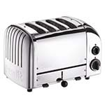 Cadco CTS-4(220) - Mica 4-Slot Pop-Up Toaster, 220v