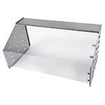 Cadco SG-1 - Sneeze Guard, for CBC-HC and CBC-HHH 3-bay/6-pan series MobilServ carts, stainless steel and polycarbonate