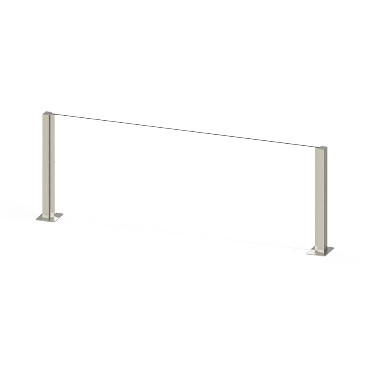 "Cal-Mil 22140-48-55 - Booth Guard, 48""W x 16""H, glass divider"